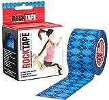 Rocktape Kinesiology Tape for Athletes - 2-Inch x 16.4-Feet (Blue Argyle)