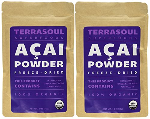 Terrasoul Superfoods Acai Berry Powder (Freeze-dried, Organic), 8-ounce