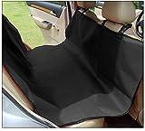 Dog Seat Cover - Pet Car Hammock - Pet Pad - Waterproof Luxury Oxford Universal Pet Car Rear Seats Protector Cat Dog Mat Black