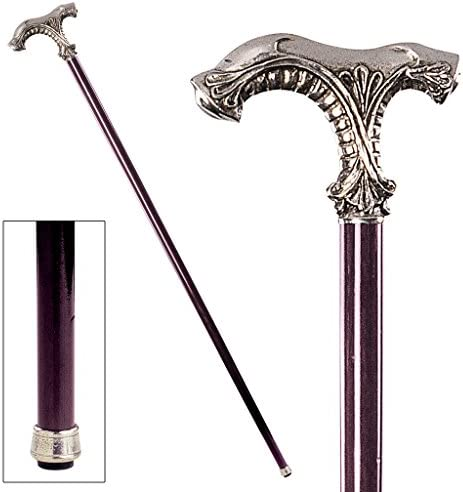 Design Toscano The Padrone Collection Art Deco Nast Eagle Pewter Walking Stick