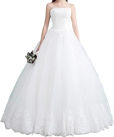 Amazon Com Hear Women S Off Shoulder Appliques Wedding Dresses