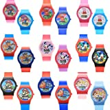 KidPlay Kids LCD Wrist Watch Digital Style Adjustable Strap (Many Characters)