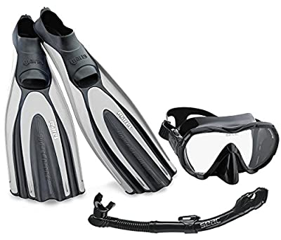 Mares Avanti Superchannel Full Foot Fins with Frameless Mask Snorkel Combo