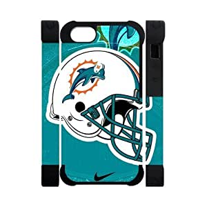 Nike Just Do It Blue Miami Dolphins Logo Case For Ipod Touch 4 Cover 5 Polymer