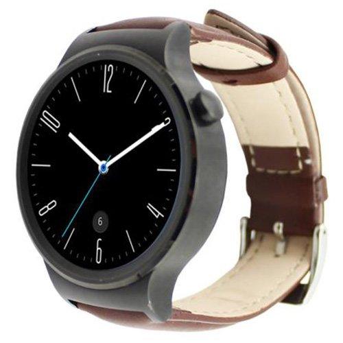 Huawei reloj inteligente banda - SODIAL (R) Fashion Luxury Genuine Cuero Reloj Banda Muñeca Correa para Huawei reloj inteligente marrón: Amazon.es: Relojes