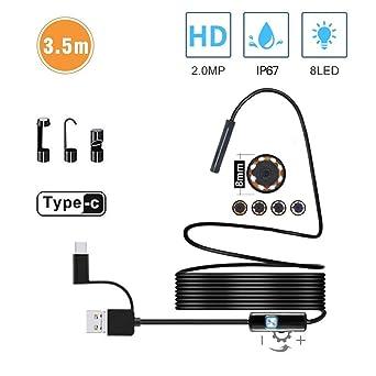 Waterproof 7mm 6LED Android Endoscope Borescope Snake Inspection Camera Scope#YA
