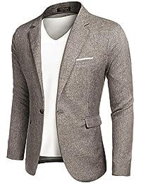 406a29c11dce Men's Sportcoat Jacket Slim Fit Lapel Pockets Causal Party Blazer
