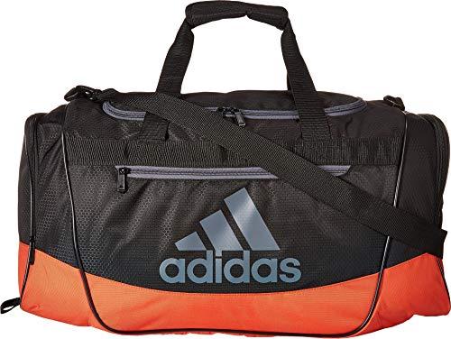 6d518372594 adidas Defender III Duffel Bag, Black Raw Amber Orange Onix, Medium