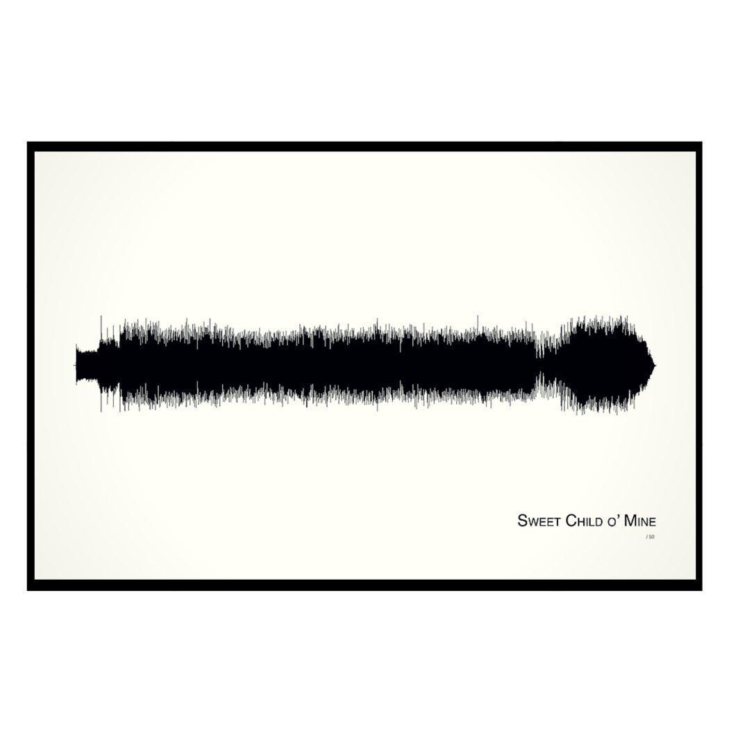 Amazon Sweet Child O Mine 11x17 Framed Soundwave Print Handmade
