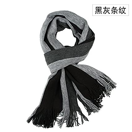 2e436b4f36306 SED Scarf-Men's Scarf Scarf Stripes All-Match Thick Winter Students  Imitation Cashmere Scarf Female Autumn and Winter Korean Students Knitted  Shawl Long