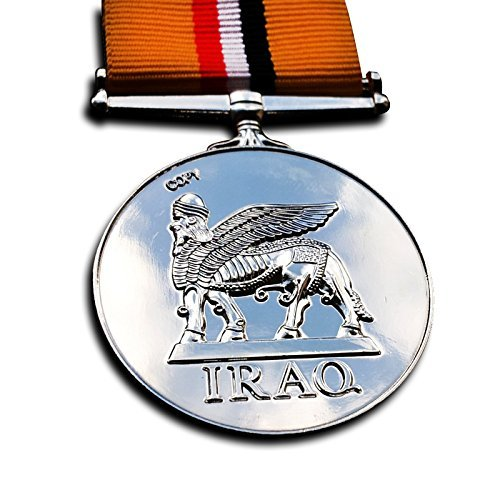 Iraq Campaign Service Medal (Military Medal Iraq Medal - 2003-2011 British Armed Forces , Operation Telic , Royal Navy Repro)