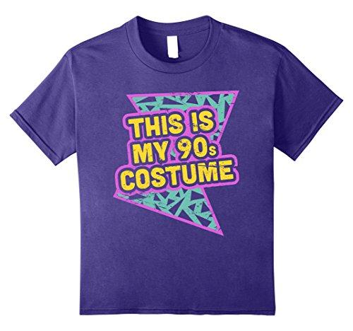 90s Girl Halloween Costumes (Kids Retro Halloween 90s Costume T-Shirt 12 Purple)