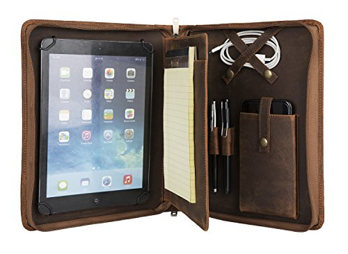 Hifriend Vintage Leather Portfolio For Ipad Pro Ipad Mini