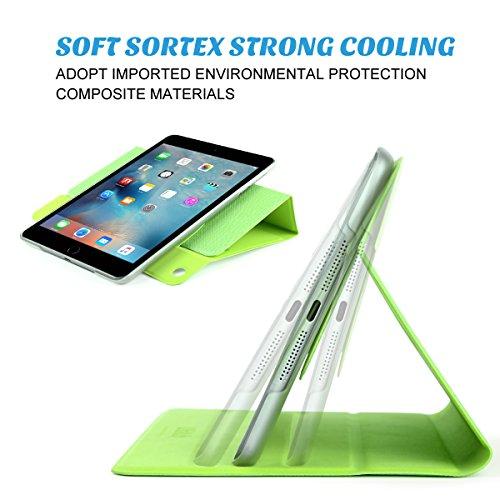 ULAK Ultra Slim 360 Rotating Smart Sleep / Wake Stand Case for Apple iPad Mini 1 / 2 / 3 - Green Photo #5