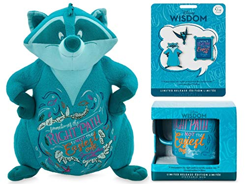 Wisdom Collection, set of 3, plush, pins and mug - Meeko - Pocahontas - May - Limited Release