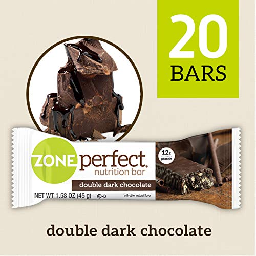 ZonePerfect Nutrition Bars, Double Dark Chocolate, 20 Count