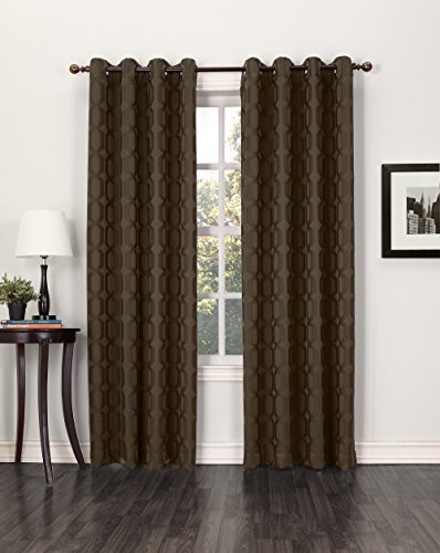 Sun Zero Benson Geometric Energy Efficient Curtain Panel