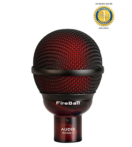 Audix FireBall Dynamic Harmonica and Instrument Microphone with 1 Year Free Extended Warranty by Audix