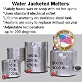 Pack of 1, 270 Lb. Water Jacketed Melter As Fast & Safe Way to Heat Wax, Soap Or Oil