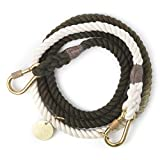 Found My Animal Olive Ombre Adjustable Leash Brass Large 7'