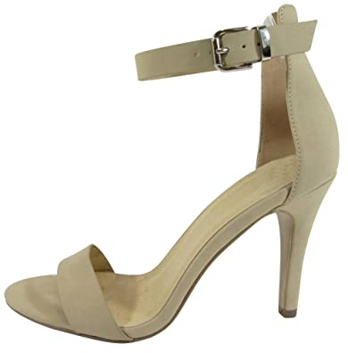 48c78533831 Cambridge Select Women s Open Toe Single Band Buckle Ankle Strappy Stiletto  High Heel Dress Sandal (