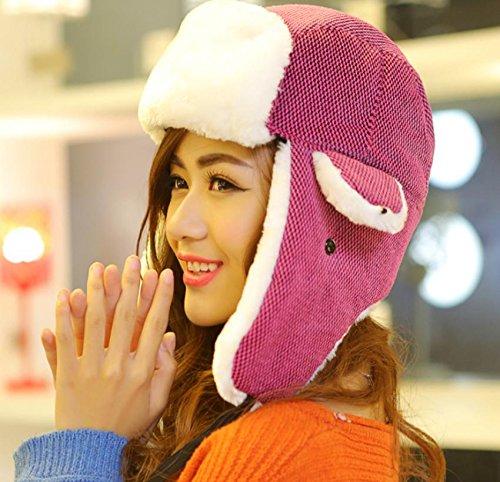 MHGAO Ear Cappellino Invernale Ispessimento Caldo Cappello Esterno  Antivento per Le Signore Ushanka 51ebd3dcb6e2