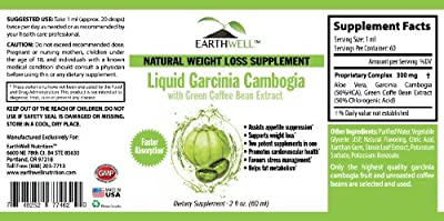 Liquid Garcinia Cambogia with Green Coffee Bean Extract - Natural Weight Loss & Appetite Suppression Supplement - Faster Absorption - Two Supplements in one