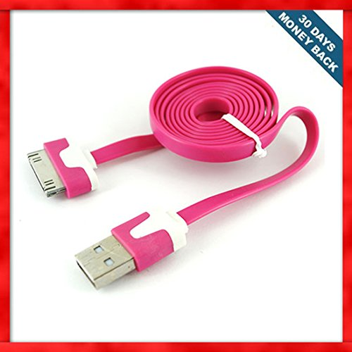 apple-hot-pink-color-40-inches-flat-usb-cable-dock-connector-to-charging-sync-data-cable-for-apple-i