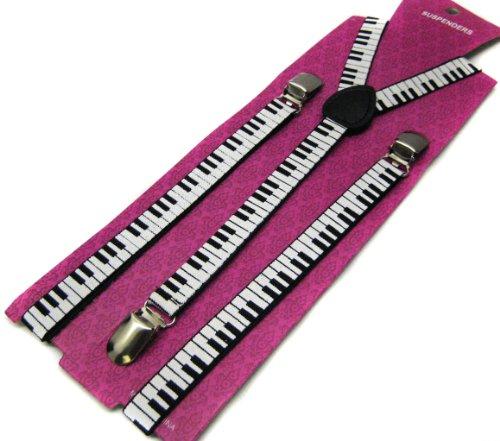 [Hot Punk Braces Suspender Piano Unisex Emo Goth] (Orchestra Conductor Costume)