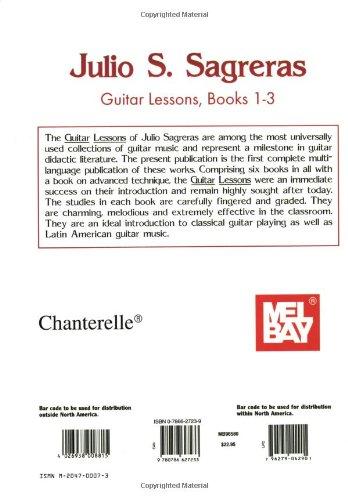 Sagreras, J: Lecciones de guitarra 1-3 Guitar Heritage: Amazon.es ...