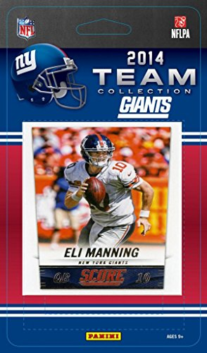 New York Giants 2014 Score NFL Factory Sealed 9 Card Team Set with Eli Manning, Victor Cruz, Odell Beckham Rookie Plus (Team Set Score)
