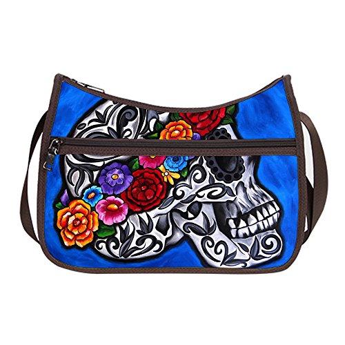 Female Hobo Shoulder Bags Every Day Simple Classic Cross-Body Handbag Sugar Skull Woman (Simple Womens Sugar)