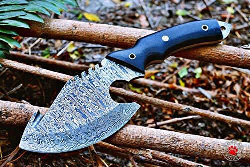 "Bobcat Knives ""Bald Eagle"" Custom Handmade Damascus Steel Axe Cleaver Hatchet Tracker Sharp Fully Function Comes with Sheath"