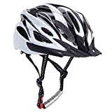 Bormart Adult Cycling Bike Helmet,Lightweight Adjustable Bicycle Helmet Specialized for Men Women Mountain Bicycle Road Safety Protection (black+white)