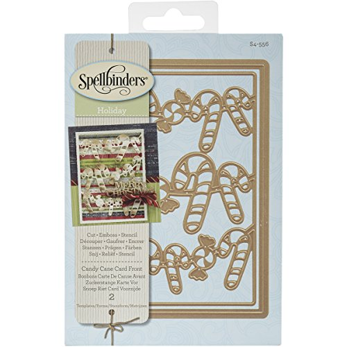 Spellbinders S4-556 Candy Canes Card Front Card Creator E...
