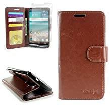 CoverON® for LG G3 Wallet Case [CarryAll Executive Series] High Quality Synthetic Leather Flip Credit Card Phone Cover Pouch - (Brown)