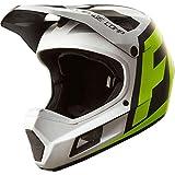 Fox Head Rampage Comp Adult Bike MX Full Face Helmet (Creo White/Yellow, M)