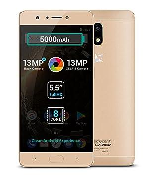 P9 Energy Gold - Smartphone 4G Dual SIM, batería 5000 mAh, 5.5 ...