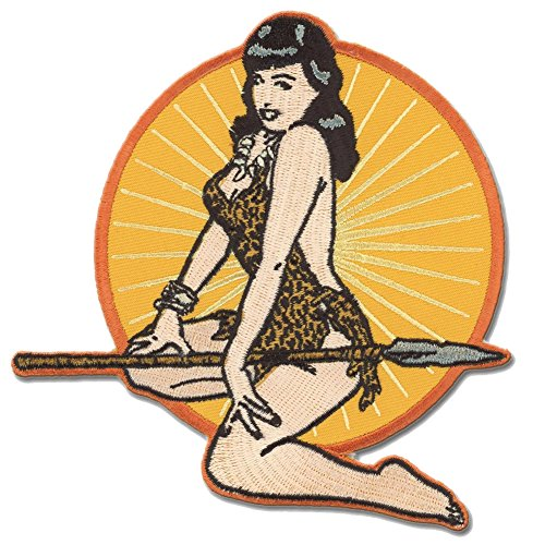 Bettie Page Jungle Girl Pin Up Patch Embroidered Iron On ()