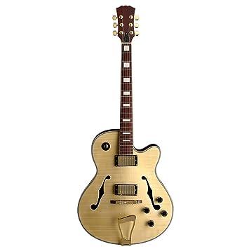 Rocket Music EGJ01N - Guitarra eléctrica (pastillas humbucker, puente fijo), color beige