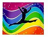 Whimsical Practicality Gymnastics Edible Icing Image (1/4 Sheet)