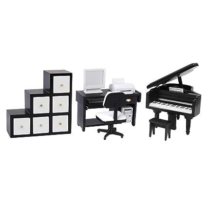 Amazon.es: SM SunniMix Kit De Muebles De Casa De Muñecas 1 ...