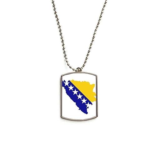 QQJSY Collar con Colgante de Placa de identificación de Acero ...