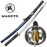 Best Katana Swords - MAKOTO Handmade Navy Blue Sharp Katana Samurai Sword Review