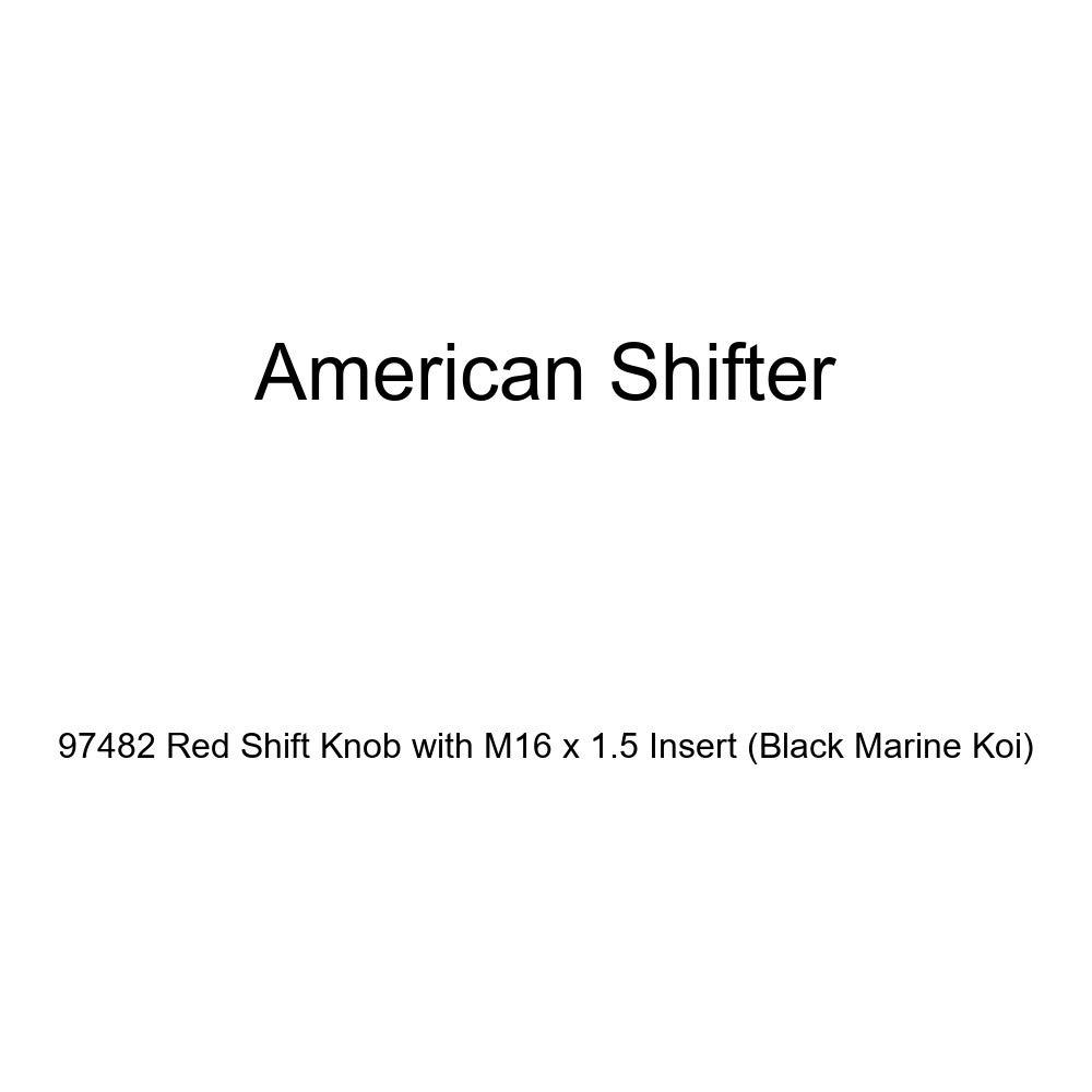 Black Marine Koi American Shifter 97482 Red Shift Knob with M16 x 1.5 Insert