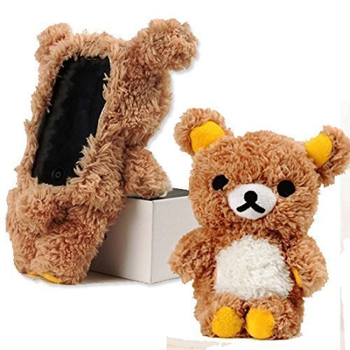 EveryOne-Buy Stylish Cute 3D Teddy Bear Doll Toy Plush Case Cover For Apple iPhone 6 4.7 inch iPod Touch 4 iPod Touch 5 iPhone 5S/5/5C/4S/4 Brown (Brown for iPhone 6 -