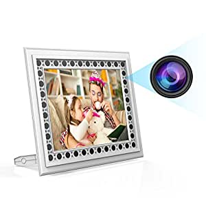 Spy Camera Picture Frame, Conbrov T10 720P Photo Hidden Camera with Night Vision and Motion Detection Covert Nanny Cam Video Recorder for Home and Office Security - No WiFi Function
