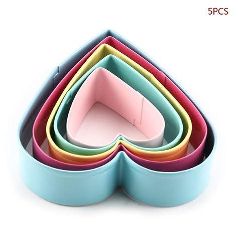 Manyo. 5 moldes de Acero Inoxidable para repostería, diseño ...