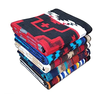 Tribal Spirit Oversize Camp Blankets. Fully Reversable with Bold, Native Patterns. 6Lb Blanket , 6' x 7'.