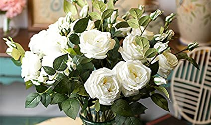 Amazon 28 large handmade real touch cabbage rose artificial 28quot large handmade real touch cabbage rose artificial spring flowers 3 pcs mightylinksfo